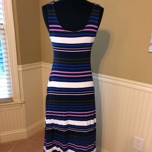 Multi colored stripe long dress